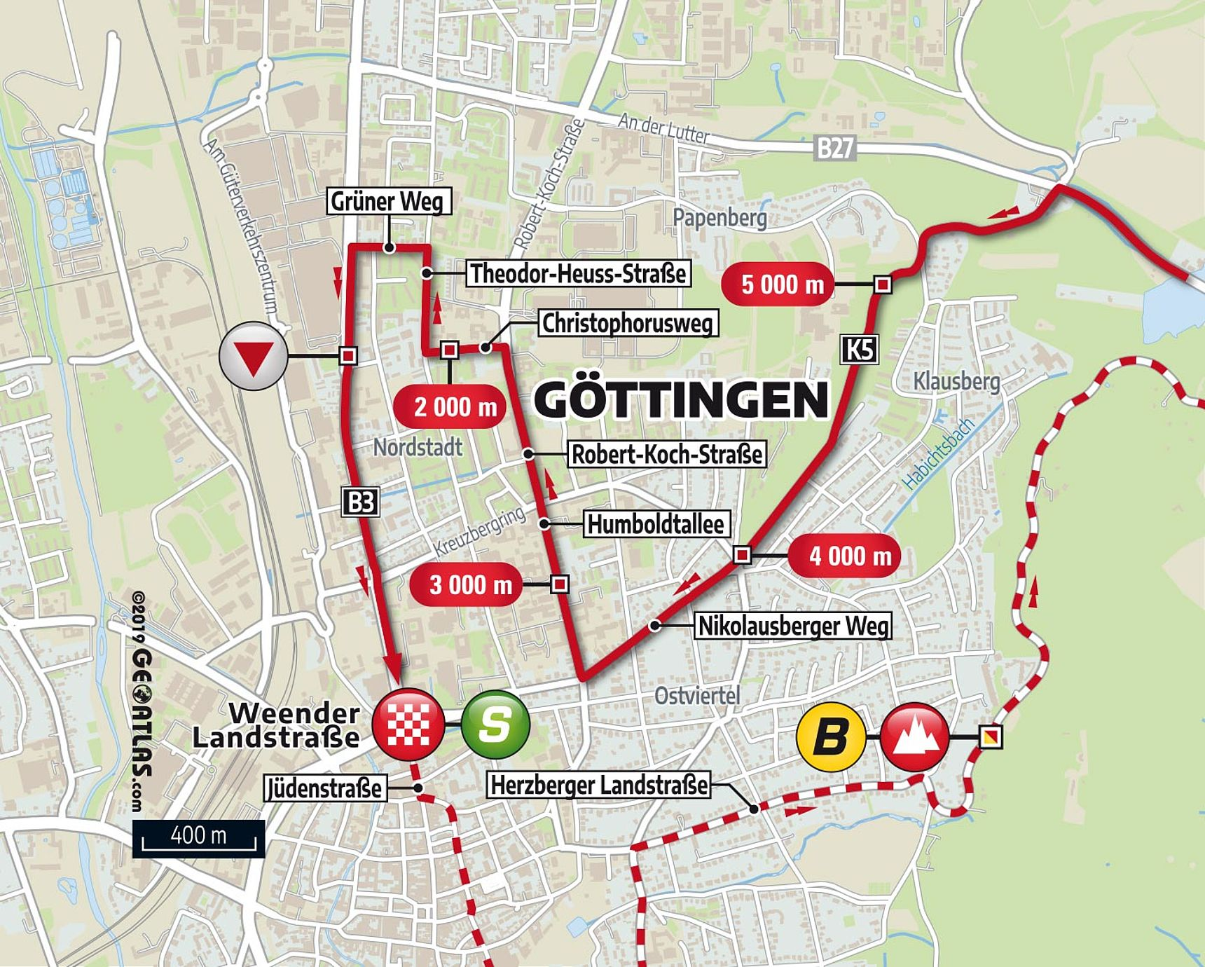 [Translate to English:] Letzte 5km in Göttingen