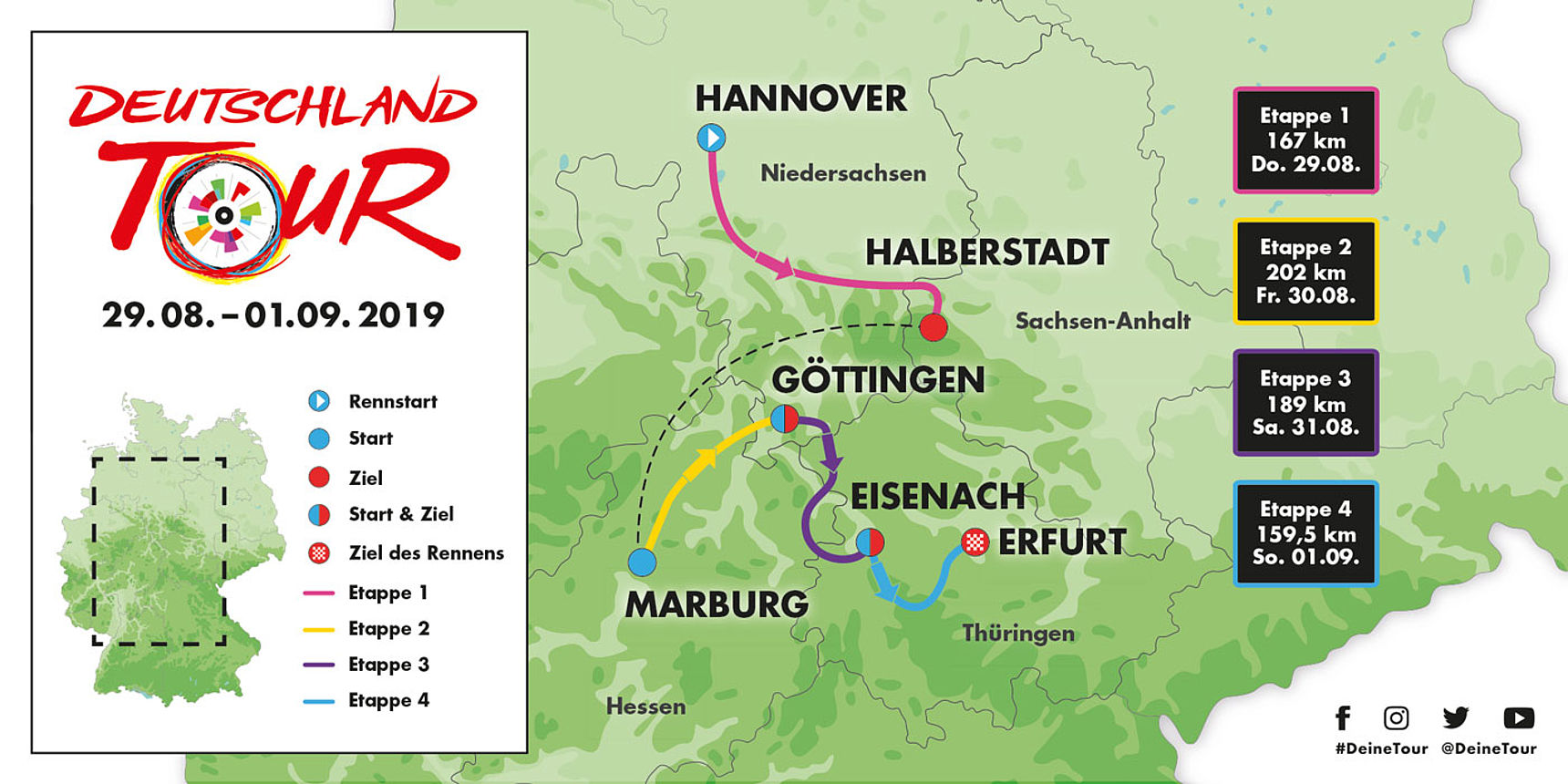 Map Deutschland Tour 2019