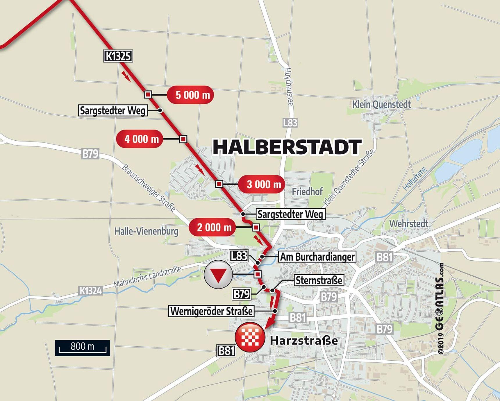 [Translate to English:] Karte Letzter KM E1