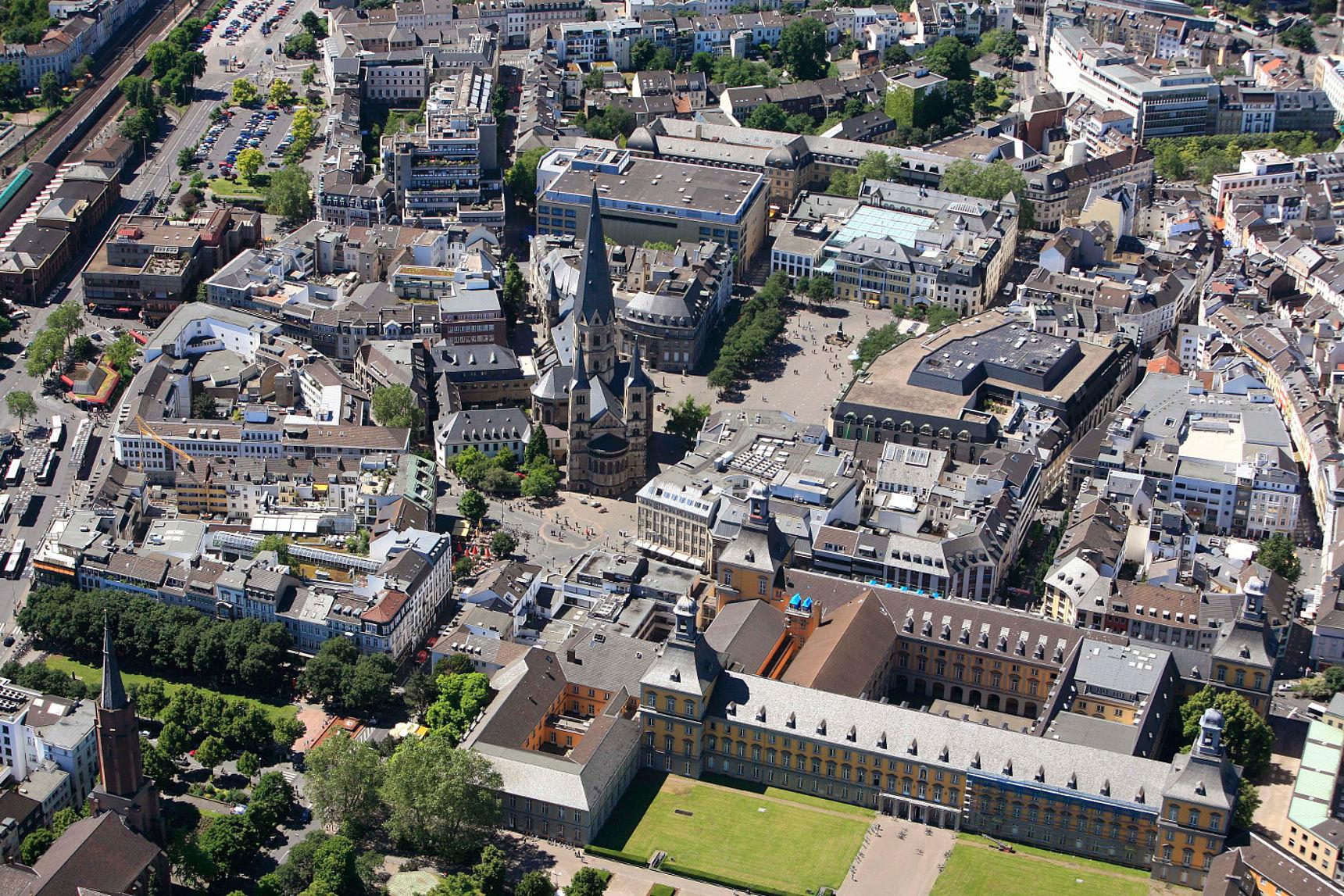 Bonn Innenstadt Luftaufnahme