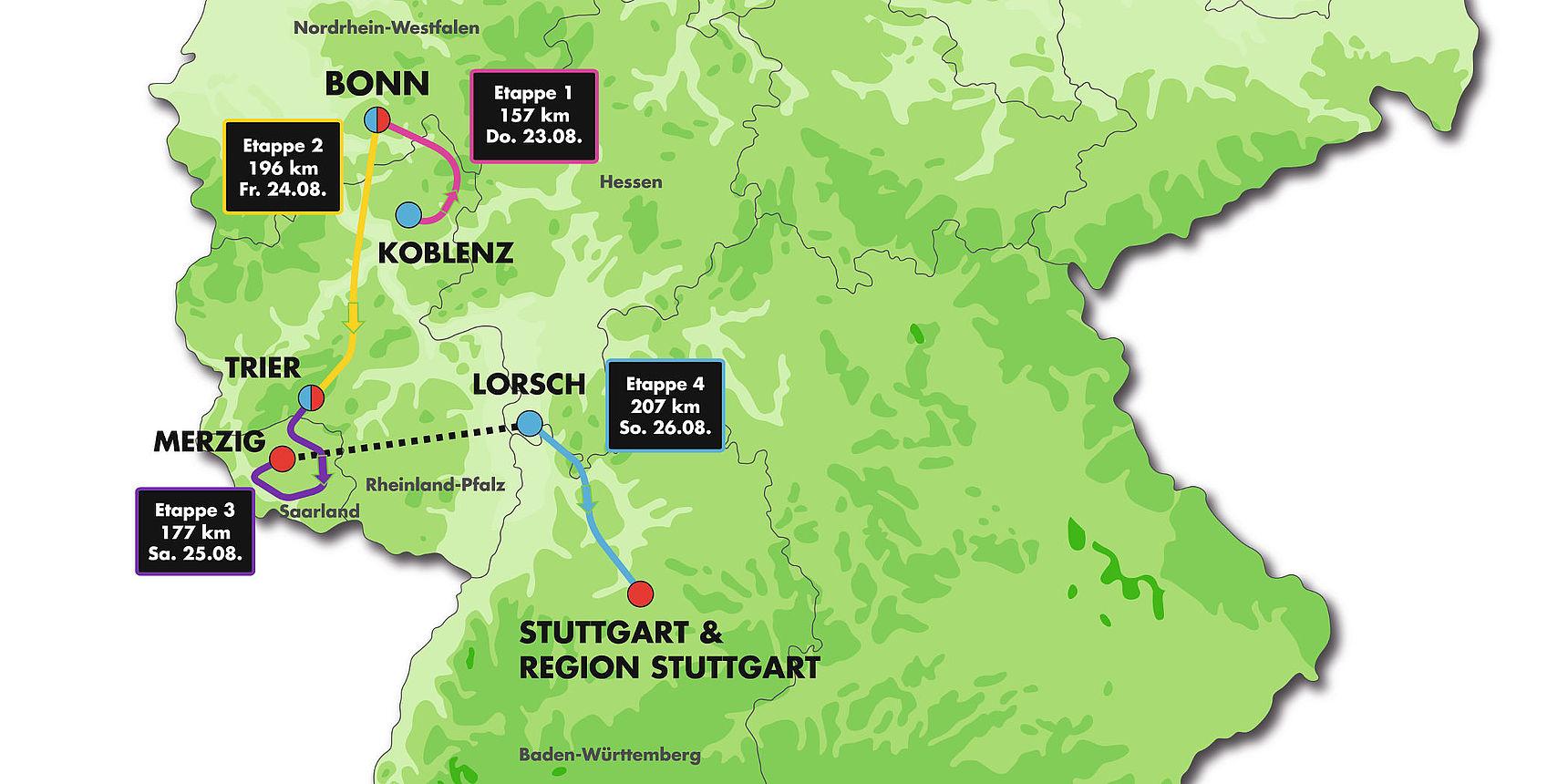 Strecke Deutschland Tour