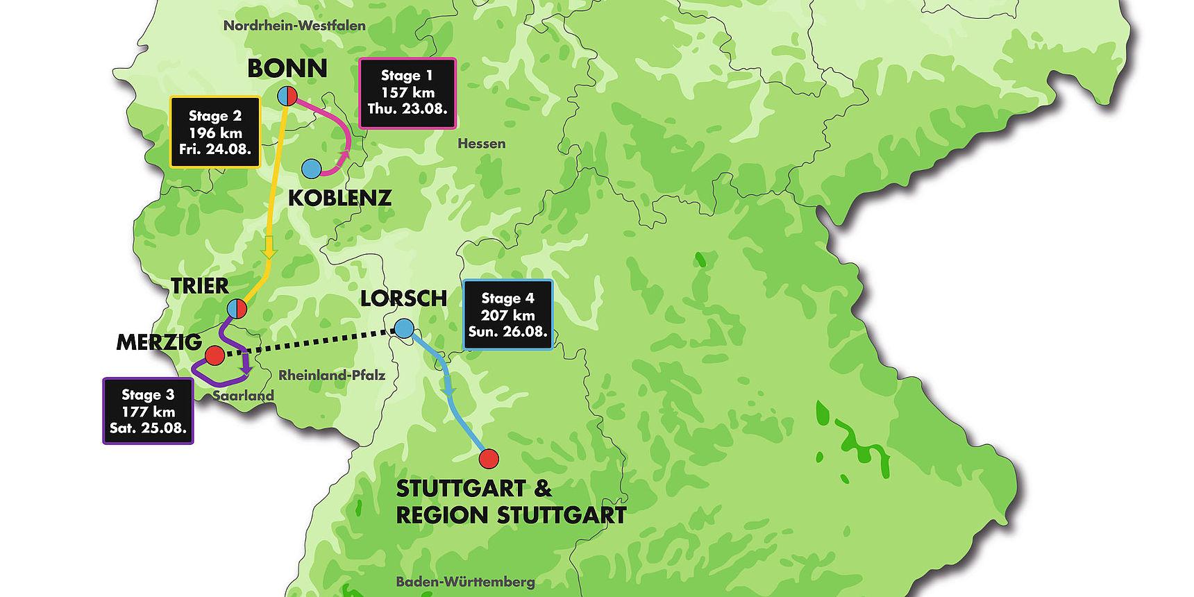 Route Deutschland Tour 2018