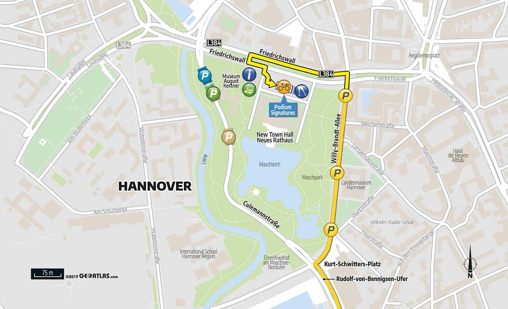 Lageplan Teampräsentation Hannover