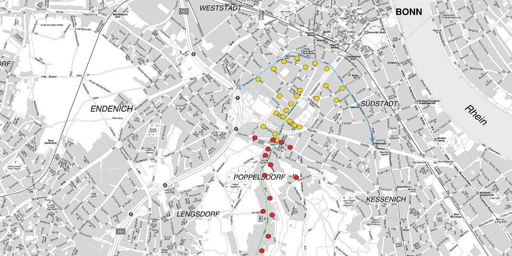 Streckensperrungen Bonn