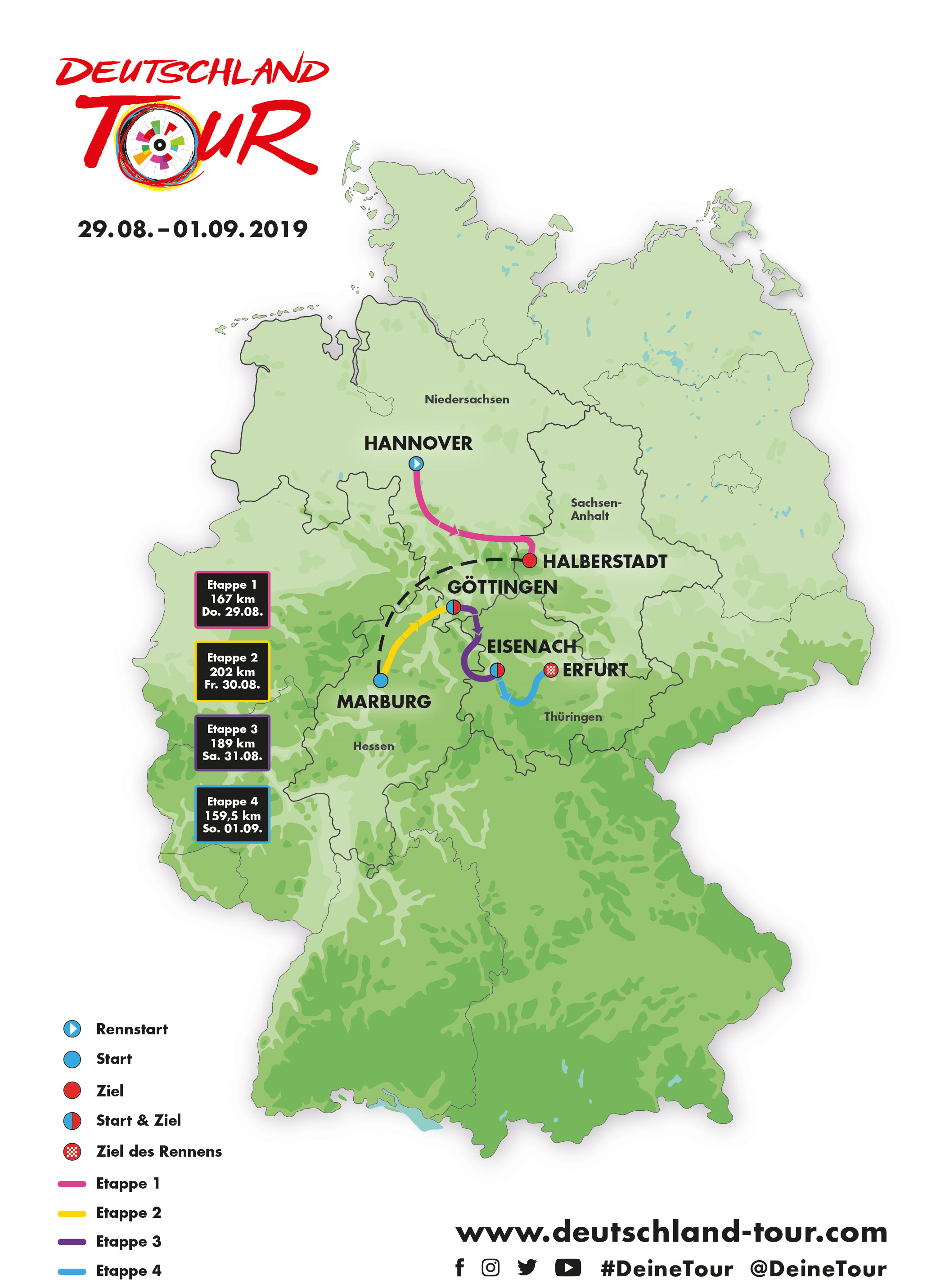Map Of Deutschland Germany.Deutschland Tour Homepage 2019 Official Homepage Of The